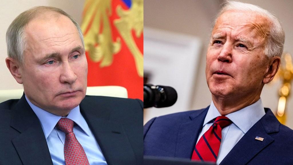 Biden llama 'asesino' a Putin y lo amenaza por interferir en las elecciones - Vladimir Putin y Joe Biden. Foto de @KremlinRussia / EFE