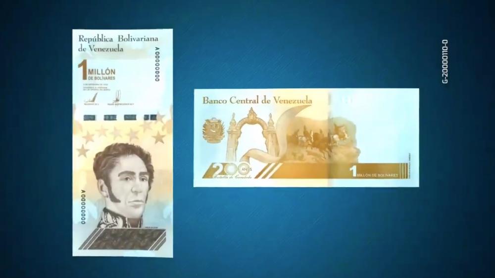 ¿A cuánto equivale el billete de un millón de bolívares venezolanos? - Foto de @BCV_ORG_VE