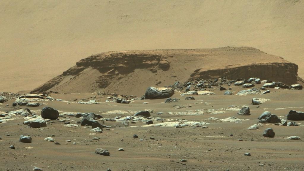 #Audio Así suenan el viento y los rayos láser en Marte - Cráter Jezero de Marte, captado por el rover Perseverance. Foto de NASA