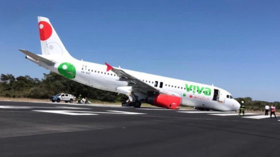 Avión de Viva Aerobús sufre incidente en Puerto Vallarta; pasajeros y tripulación, a salvo - Foto de @flyAPM