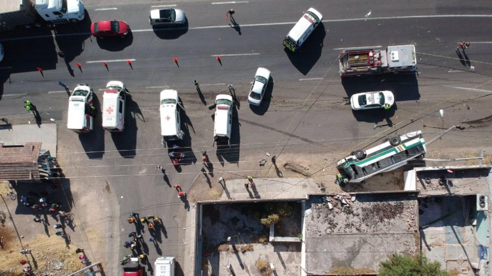 Querétaro: accidente carretero deja saldo de tres muertos y 19 heridos - accidente carretero Queretaro carretera 57