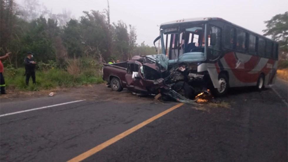 Accidente carretero en Veracruz deja dos muertos y seis heridos - accidente Medellin de Bravo Veracruz