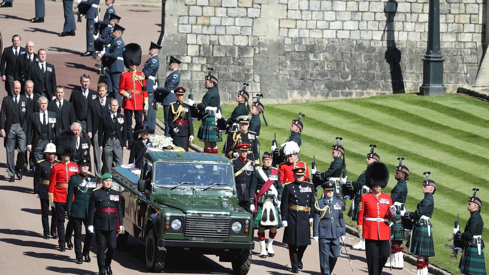 Los asistentes en el funeral del Príncipe Felipe, Duque de Edimburgo. Foto de EFE/ EPA/ Dave Jenkins/ MOD/CROWN.