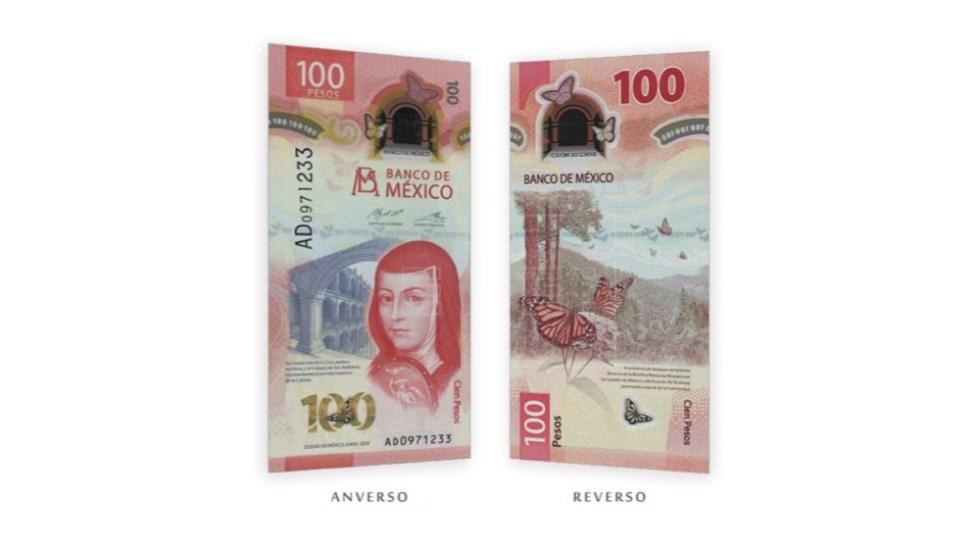 Premian al billete de 100 pesos mexicanos como el mejor de 2020 - Billete 100 pesos mexicanos Sor Juana Banxico
