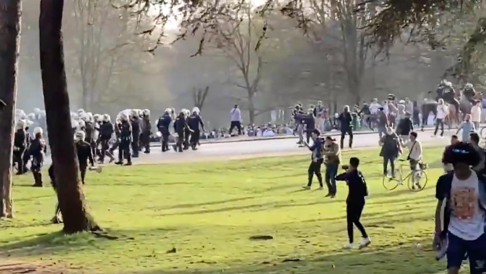 Bruselas parque desalojo Bélgica festival
