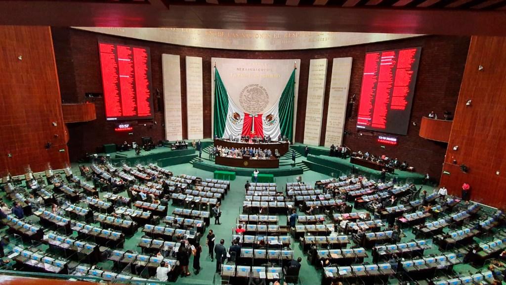 Hay intención política en decir que 4-T no obtuvo mayoría calificada: AMLO - Cámara de Diputados San Lázaro mayoría
