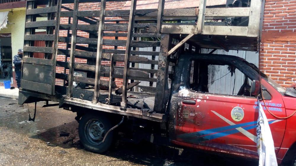 Explota pirotecnia que sería usada en acto del PRD en Morelos - camioneta pirotecnia Yautepec PRD Morelos Cocoyoc