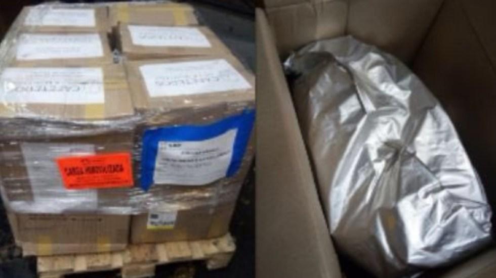 Histórico decomiso de mil 190 kilos de cocaína en el AICM - cocaína mil kilos Aeropuerto CDMX AICM