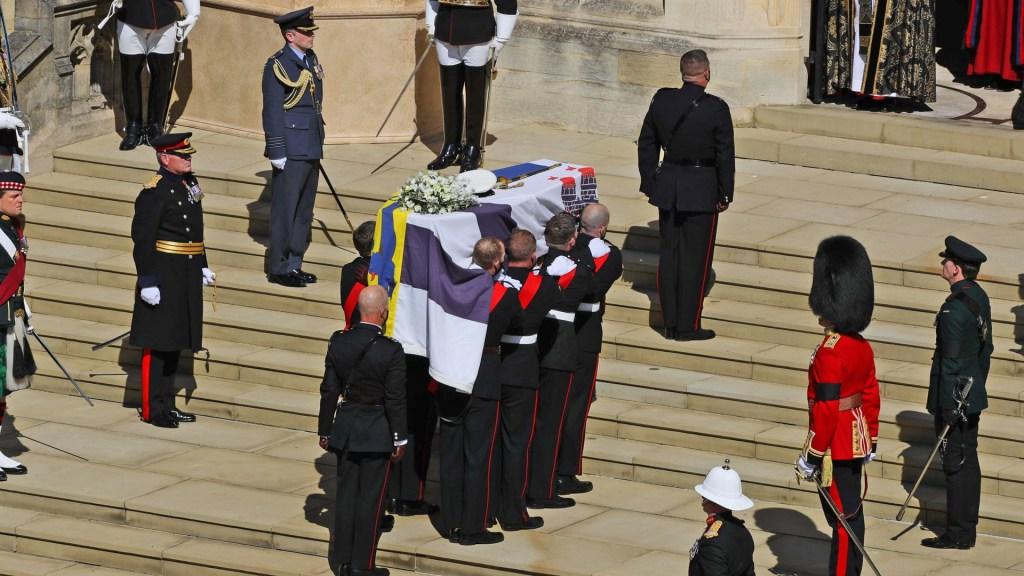Más de 13 millones de personas siguieron el funeral del príncipe Felipe por televisión - Cortejo fúnebre del príncipe Felipe, duque de Edimburgo. Foto de EFE