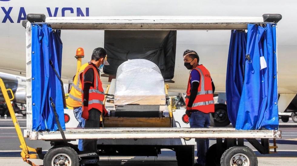 Llega  a El Salvador cuerpo de Victoria Salazar - El cuerpo de Victoria Salazar llega a El Salvador. Foto de @SecPrensaSV