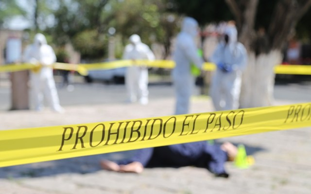 Marzo 2021 registró 9 mil 805 homicidios dolosos, mínimo histórico para un mes de marzo - Simulacro en Michoacán de aseguramiento de escena por muerte de persona. Foto de @FiscaliaMich