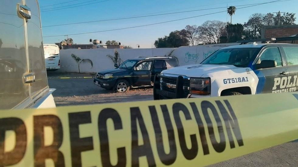 Suman 80 mil 369 homicidios dolosos en lo que va del sexenio - Escena del crimen acordonada en Irapuato, Guanajuato. Foto de EFE / Archivo