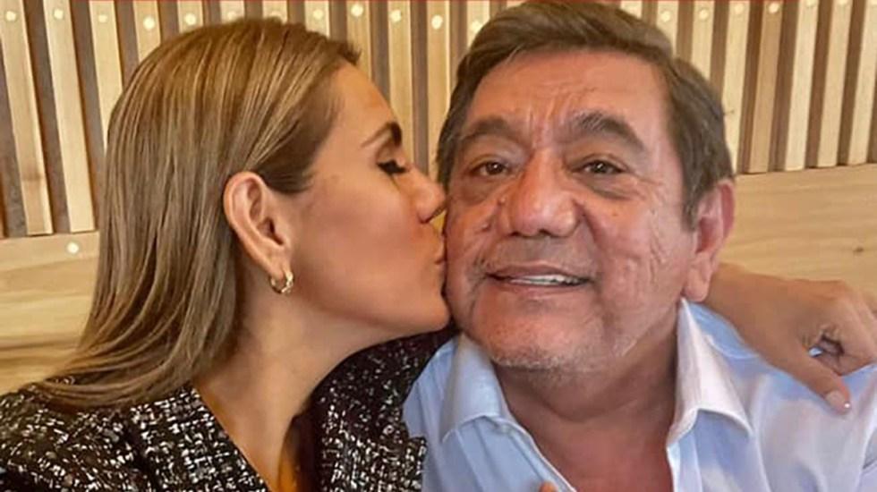 Salgado Macedonio confirma que su hija está incluida en encuesta para elegir candidato por Morena en Guerrero - Félix Salgado Macedonio con su hija Evelyn. Foto de @FelixSalgadoMX