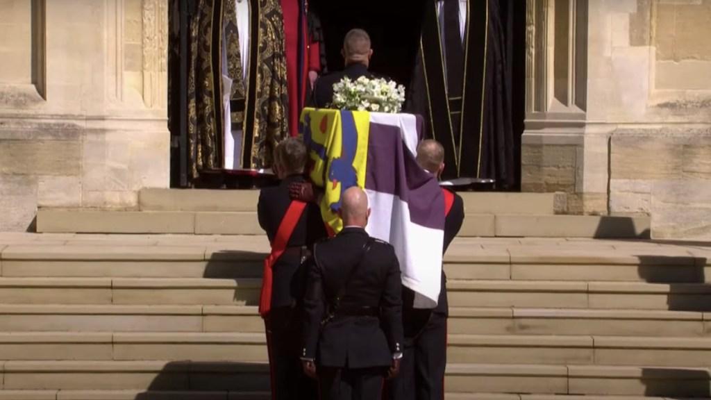 Funeral del duque de Edimburgo en la capilla de San Jorge - Funeral del duque de Edimburgo. Foto tomada de video