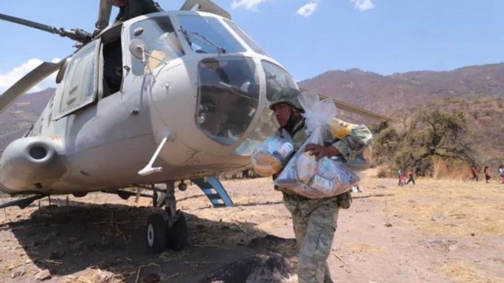 Fuerzas estatales y federales entregan insumos en Sierra de Guerrero y despliegan operativo de seguridad - Guerrero Insumos Las Conchitas alimentos