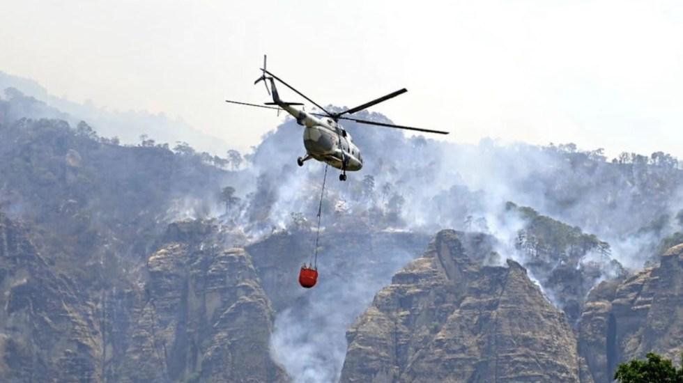 Continúan labores de mitigación de incendio en Tepoztlán, Morelos - Incendio en el tepozteco, Tepoztlán. Foto de Gobierno de Morelos