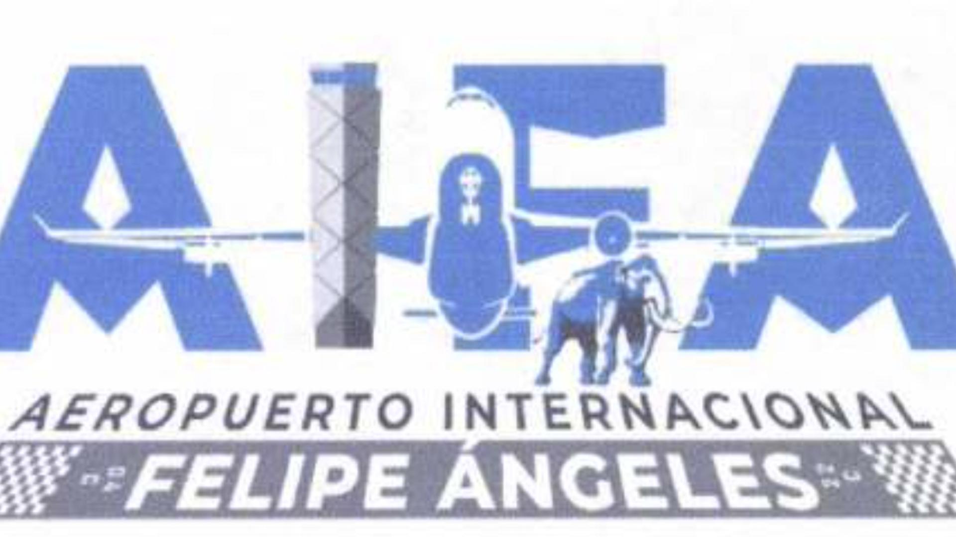 El Logo del Aeropuerto Internacional Felipe Ángeles registrado ante el IMPI.