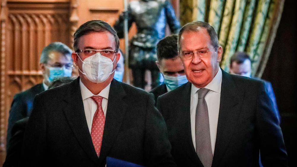 Ebrard agradece a Rusia su apoyo en la lucha contra la pandemia - Marcelo Ebrard Serguei Lavrov México Rusia