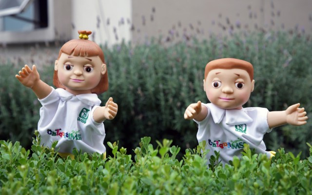 Recomienda IMSS festejos virtuales por Día del Niño para evitar COVID-19 - Marionetas del IMSS de niños. Foto de IMSS