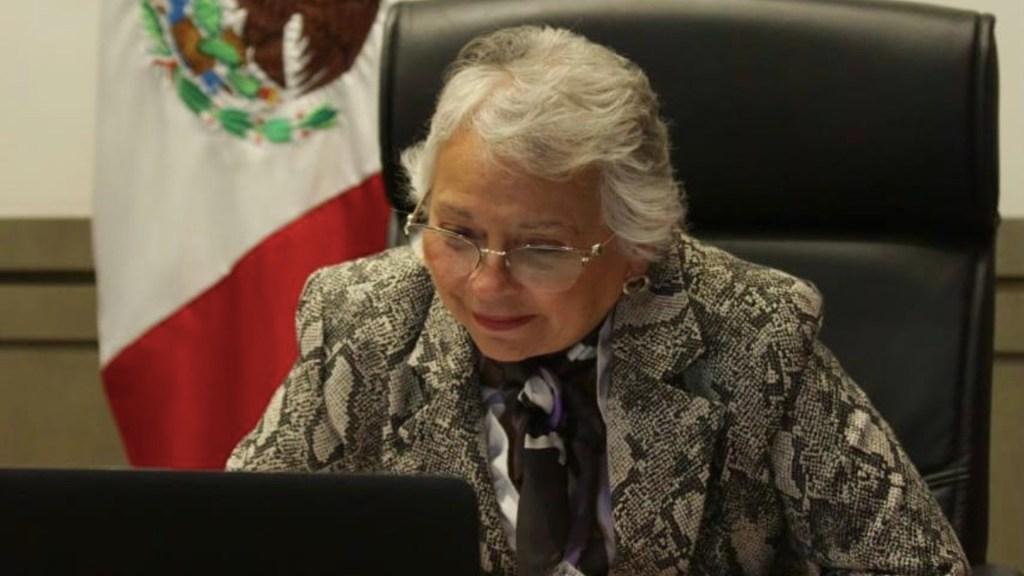 Olga Sánchez Cordero pide respeto mutuo entre INE y Morena - Olga Sánchez Cordero, secretaria de Gobernación. Foto de Twitter @M_OlgaSCordero