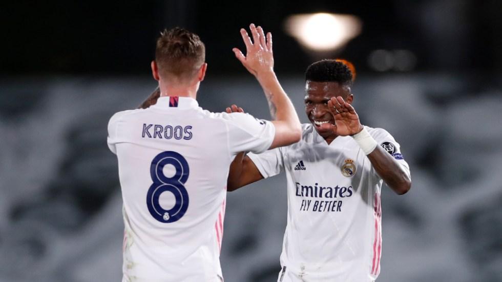 Real Madrid aventaja al Liverpool en la ida de cuartos de final de la Champions - Partido Real Madrid Liverpool Champions