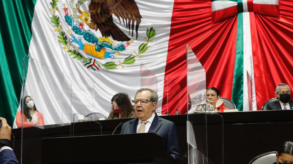 #Video Advierte Muñoz Ledo que México tiene dos opciones: avanzar hacia la democracia o al autoritarismo - Porfirio Muñoz Ledo en Cámara de Diputados. Foto de Cámara de Diputados