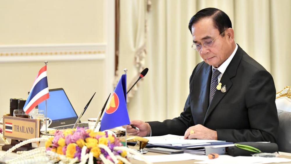 Multan a primer ministro de Tailandia por no llevar cubrebocas - Prayut Chan-ocha Tailandia