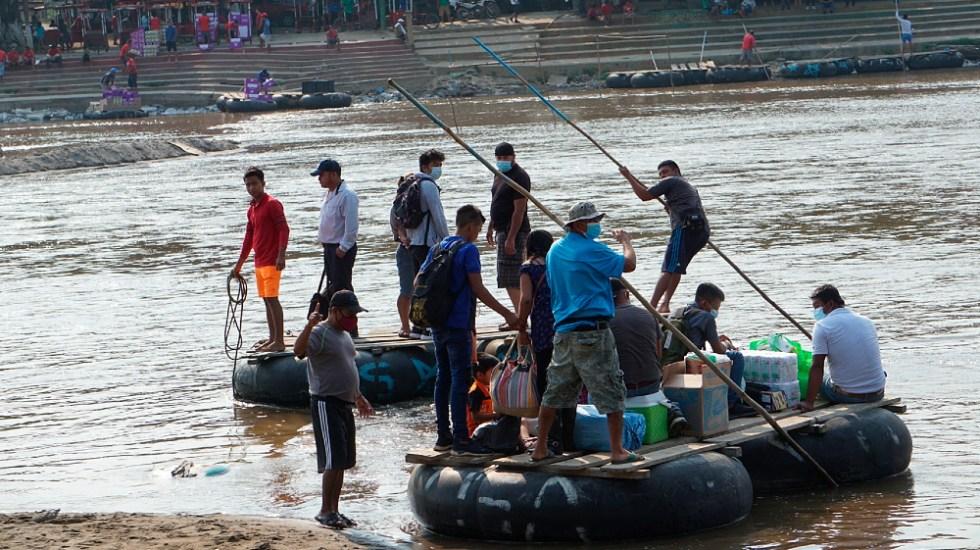 Alista gobierno plan para reforzar controles migratorios en frontera sur - rio Suchiate frontera sur migrantes Chiapas