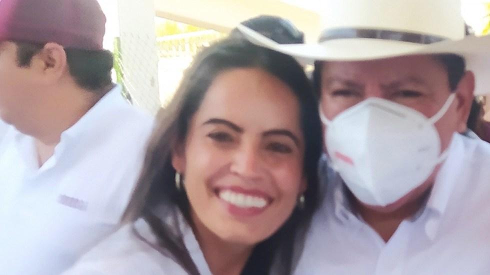"""#Video Candidata por Morena defiende a David Monreal; """"nunca me ha faltado"""", afirma - Rocío Moreno con David Monreal. Foto de Rocío Moreno / Facebook"""