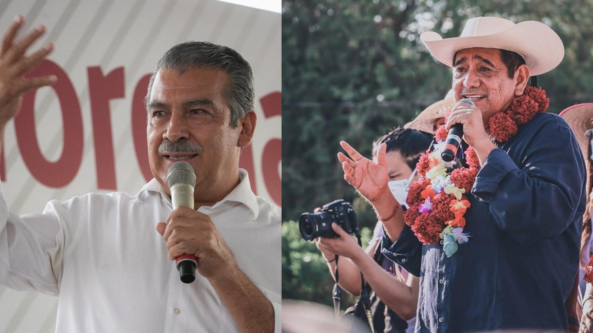 Félix Salgado Macedonio y Raúl Morón. Foto de López-Dóriga Digital