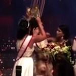 """Detenida reina de la belleza que arrancó la corona a """"Mrs Sri Lanka 2021"""""""