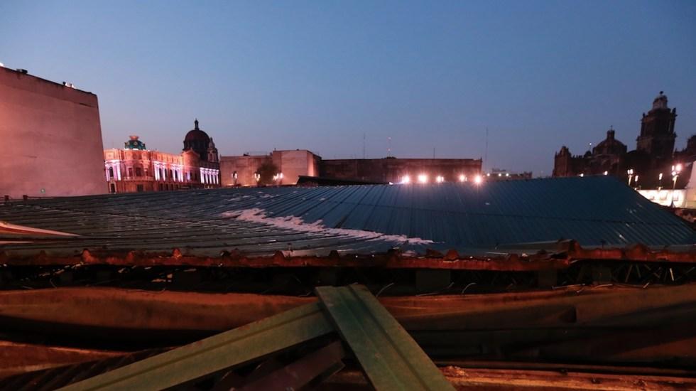 Techo colapsado del Templo Mayor de México salvó la zona arqueológica - Techo colapsado del Templo Mayor de México salvó la zona arqueológica. Foto de EFE