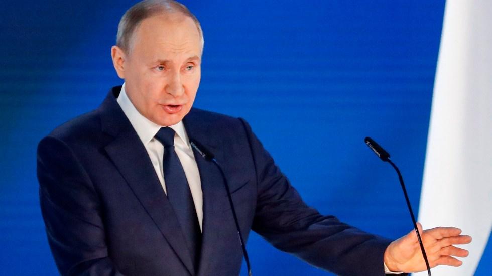 "Putin advierte a Occidente que ""lamentará"" cualquier provocación contra Rusia - Vladimir Putin en Asamblea Federal. Foto de EFE"