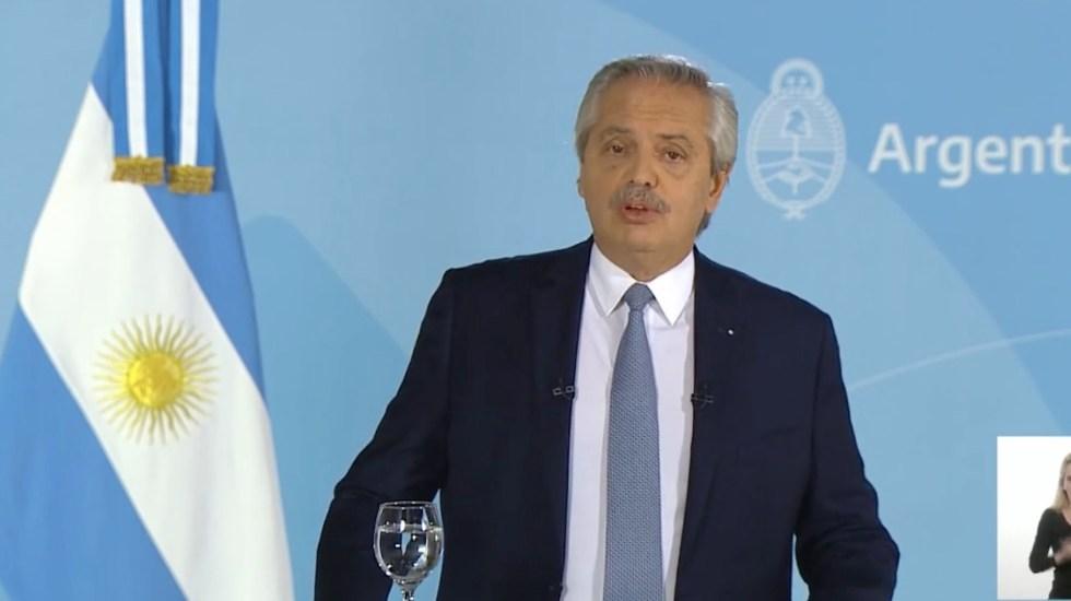 Argentina endurece restricciones ante recrudecimiento de la pandemia - Alberto Fernández, presidente de Argentina. Foto tomada de video