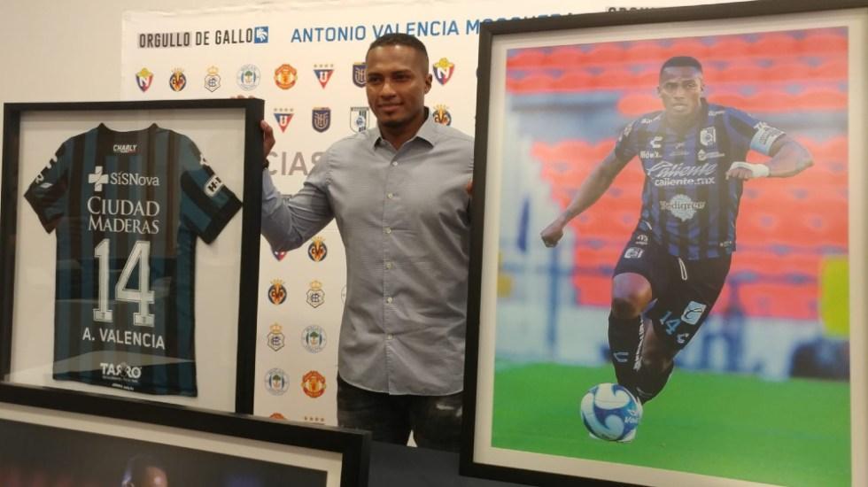 Antonio Valencia anuncia su retiro del futbol por lesiones de rodillas - Antonio Valencia Gallos Quertetaro