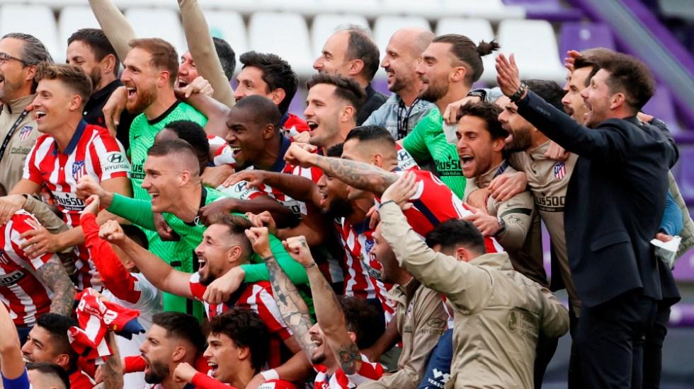 Atlético de Madrid se corona por undécima vez en la liga española - Campeón Atlético de Madrid