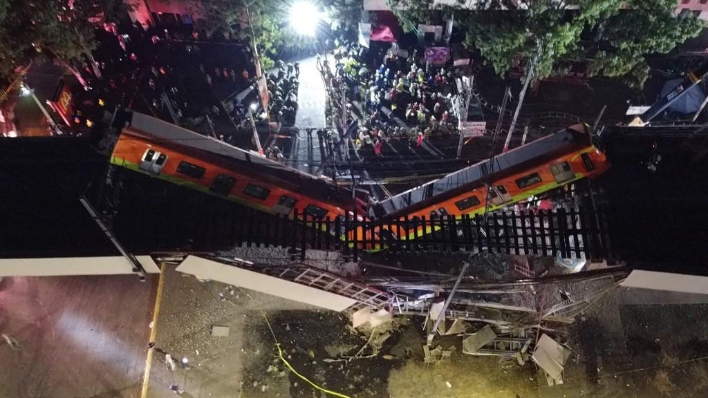Autoridades del Metro contactarán a afectados por accidente en Línea 12: aseguradora - Fotografía que muestra colapso en la Línea 12 del Metro. Foto de EFE/ Sáshenka Gutiérrez