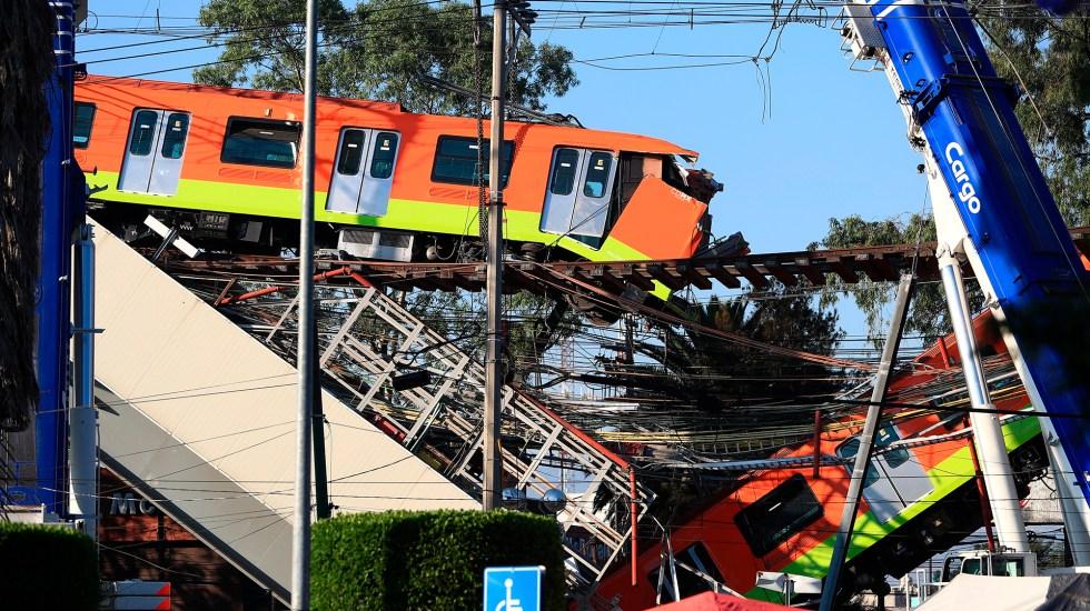 Carso Infraestructura esperará peritajes por colapso en Metro para deslindar responsabilidades - Colapso en Línea 12 del Metro. Foto de EFE