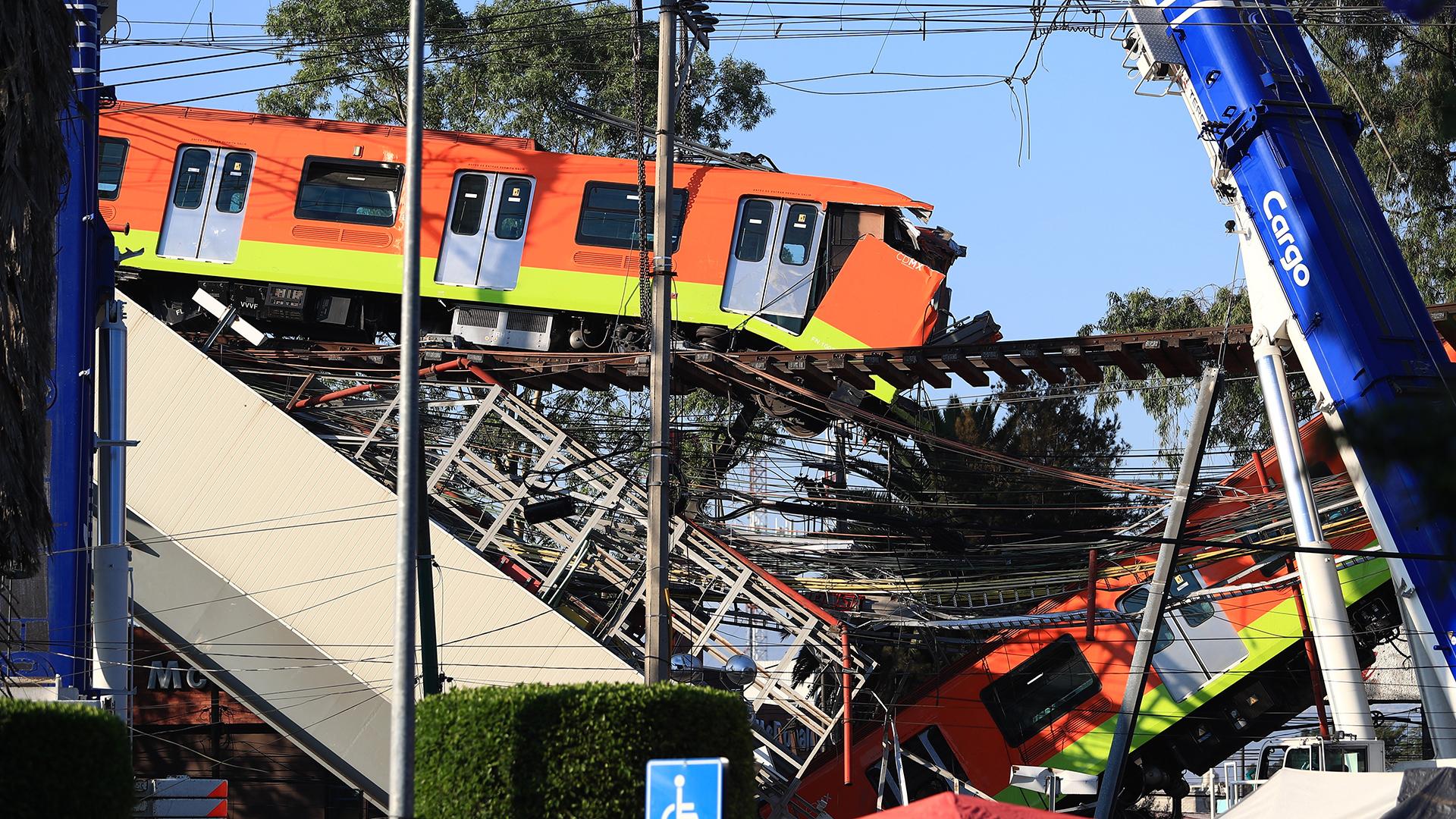 Línea 12 Metro CDMX colapso