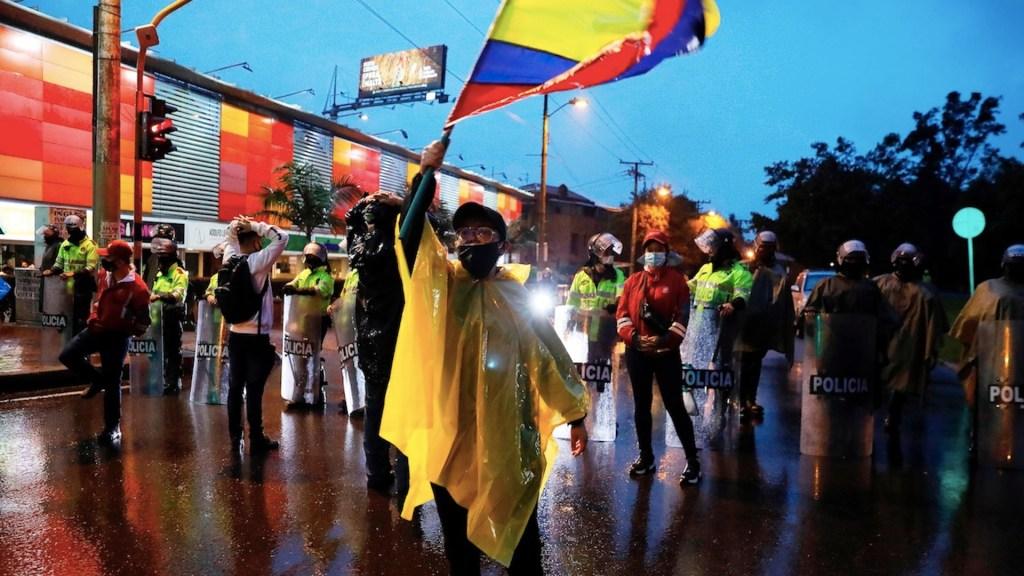 Protestas en Colombia. Foto de EFE