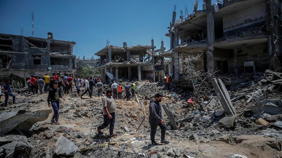 Decenas de personas cruzan la frontera a Israel en apoyo de palestinos - Destrucción en Beit Hanun, al norte de la ciudad de Gaza, por ataques israelíes. Foto de EFE