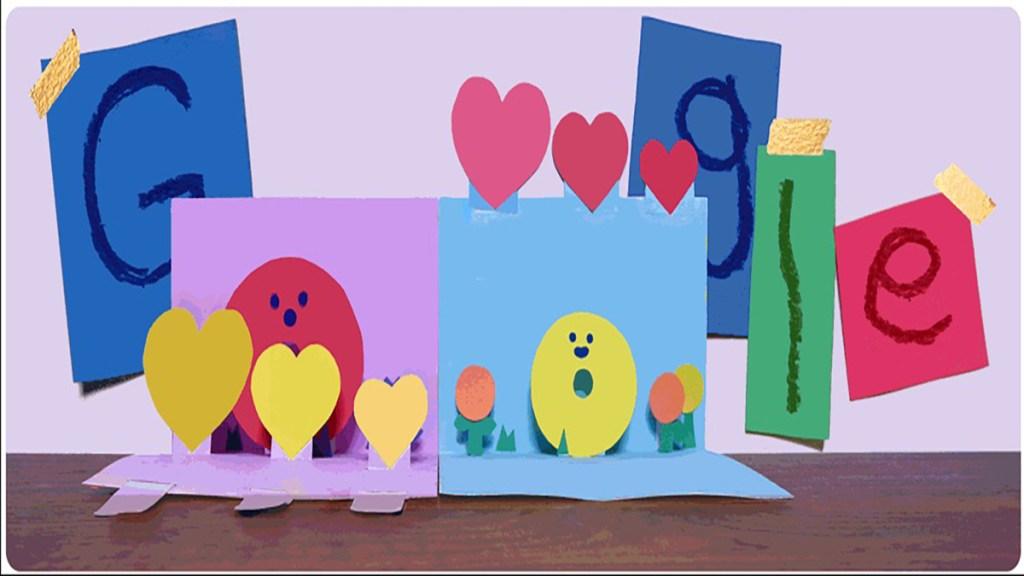 Google festeja el Día de las Madres con doodle animado - Doodle animado por Día de las Madres 2021. Foto de Google