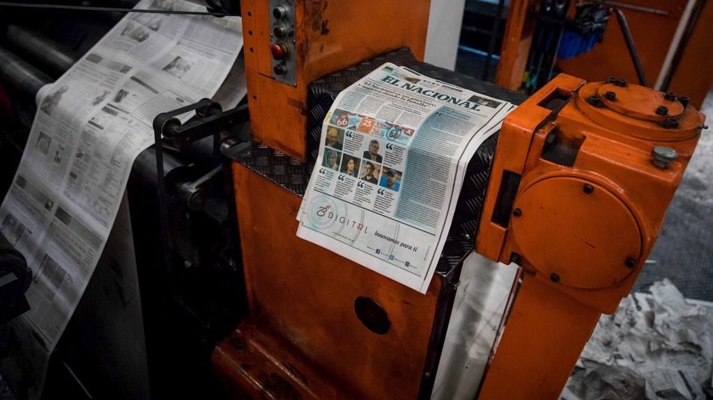 Vista de maquinas rotativas, donde se imprime el diario El Nacional, en Caracas, Venezuela. Foto de EFE/ Miguel Gutiérrez/ArchivoVista de maquinas rotativas, donde se imprime el diario El Nacional, en Caracas, Venezuela. Foto de EFE/ Miguel Gutiérrez/Archivo
