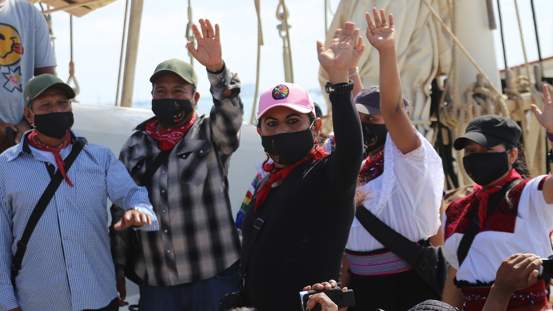 EZLN Barco Europa viaje 2