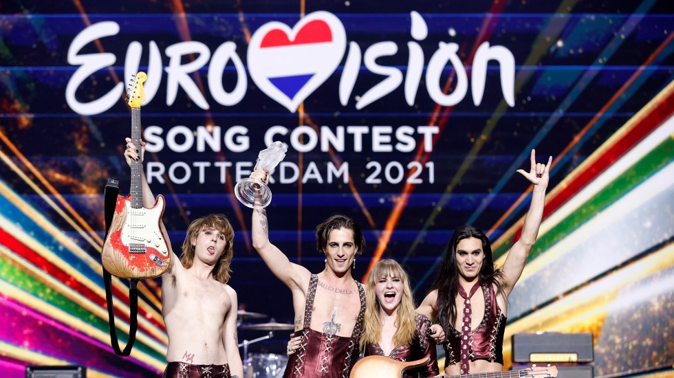 Italia gana Eurovisión 2021 con el cuarteto Maneskin - Ganadores de Eurovisión 2021. Foto de EFE