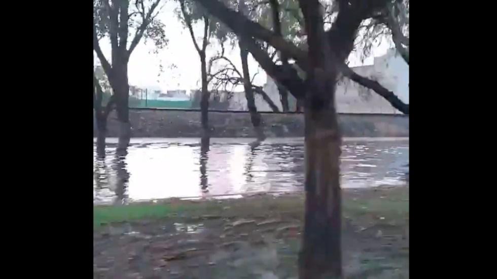 Intensa lluvia en varias zonas del Estado de México - Granizada lluvia Edomex