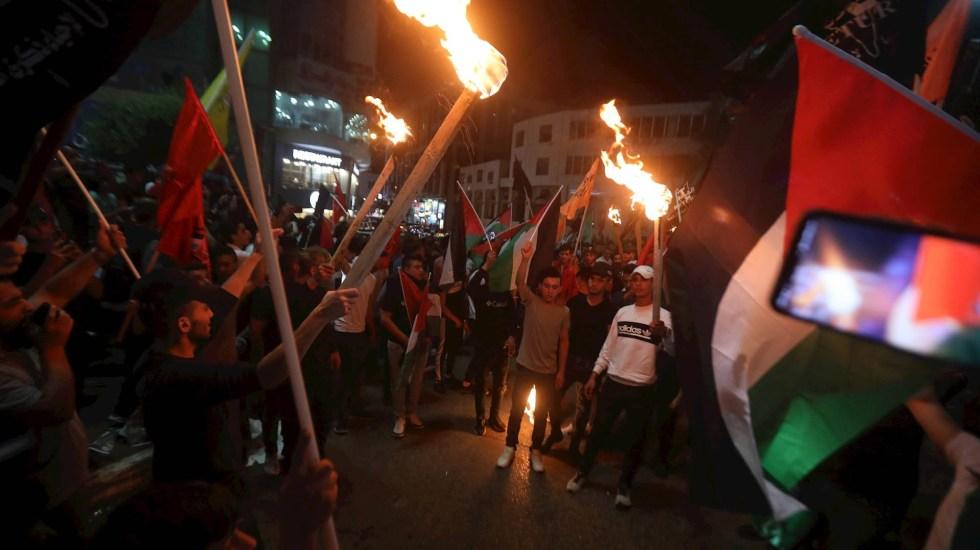 Vuelven disturbios a Explanada de las Mezquitas en Jerusalén Este tras hechos violentos - Jerusalen protestas gaza cohetes explosivos