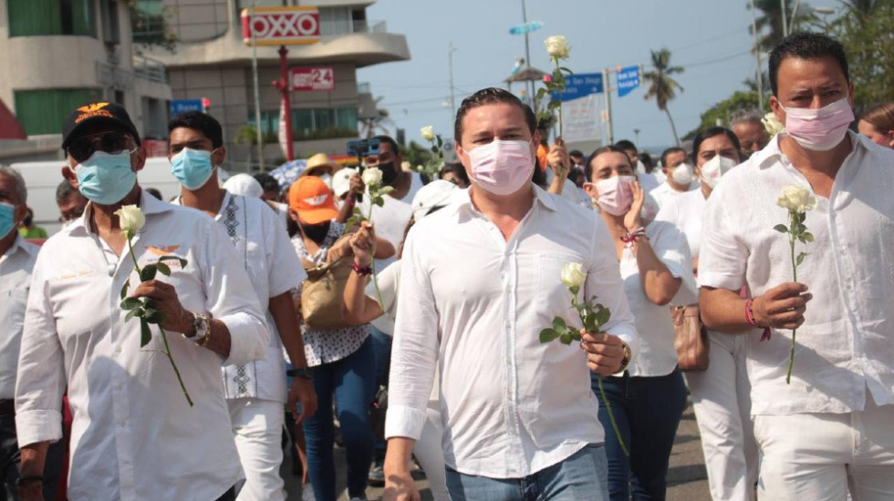 Candidato agredido en Acapulco marcha para exigir seguridad - José Alberto Güero Alonso Acapulco candidato