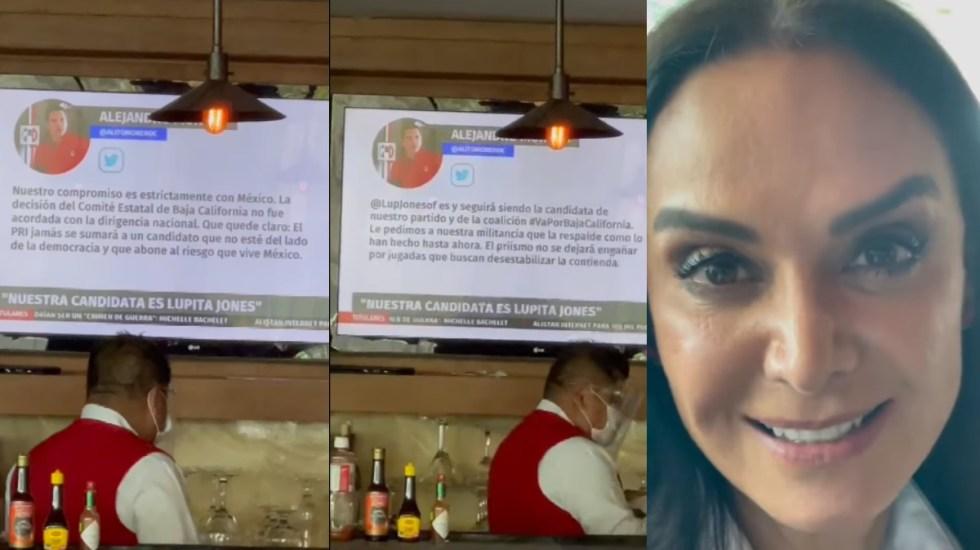 """Hank, ya te gané una vez, la candidata del PRI soy yo"": Lupita Jones - Lupita Jones PRI candidata"