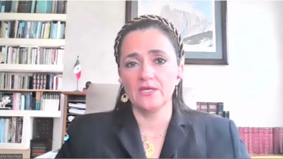 Margarita Ríos-Farjat pugna por derechos de la comunidad LGBT - Margarita Ríos-Farjat en conferencia magistral sobre derechos de la comunidad LGBT. Foto de @eld_oficial